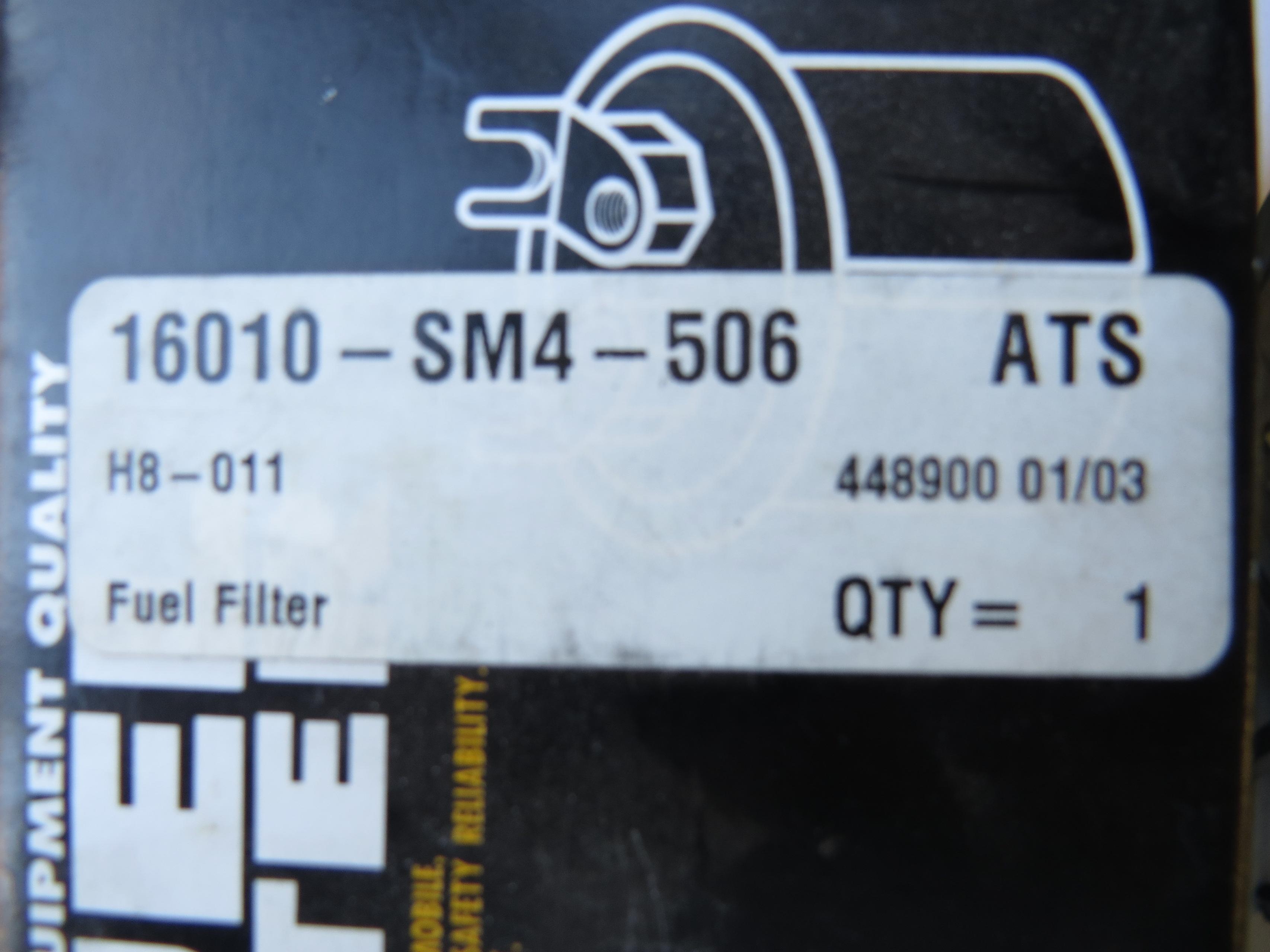 HONDA CIVIC ACCORD 1990-1994 FUEL FILTER 16010SM4506 on