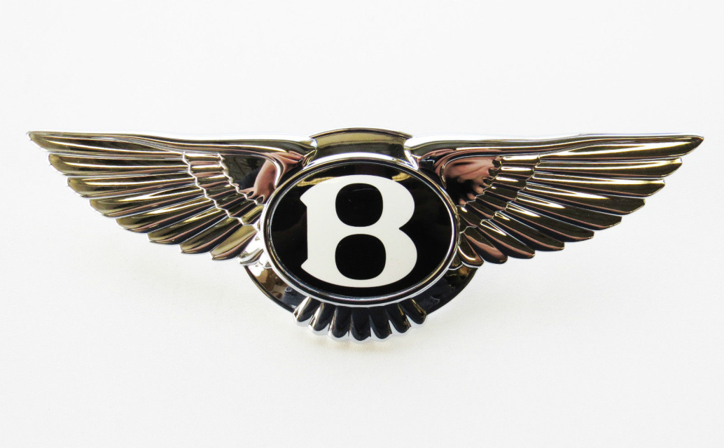 Bentley Continental Gt Gtc Winged Badge Emblem Oem 3w8853689a